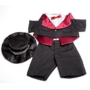 """Tuxedo Outfit Teddy Bear Clothes Fit 14"""" - 18"""" Build-a-bear, Vermont Teddy Bears, and Make Your Own Stuffed Animals"""