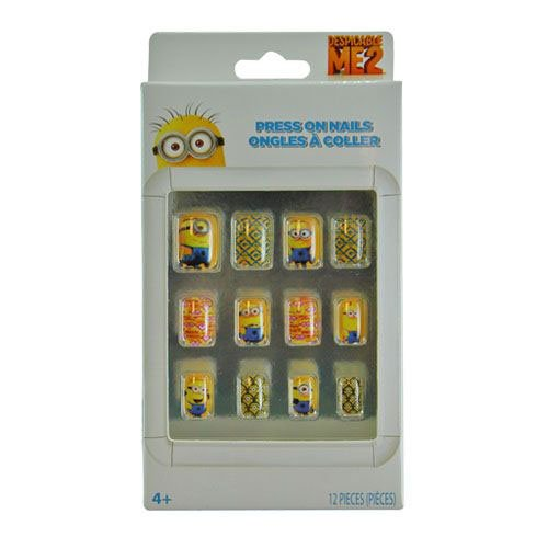 Minions Press-On Nails (12 Pieces) - Party Supplies