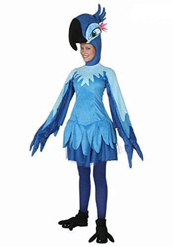 [Horries Women's Cartoon Animal Cosplay Costume Adult Blue Parrot Clothes] (Parrot Costume Female)