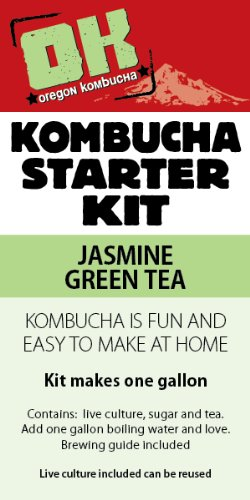Oregon Kombucha Complete Starter Kit - Jasmine Green Tea