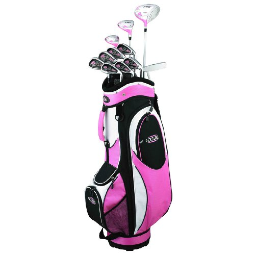 GolfGirl FWS2 Golf Clubs Package Set + Bag PINK Ladies Left Hand