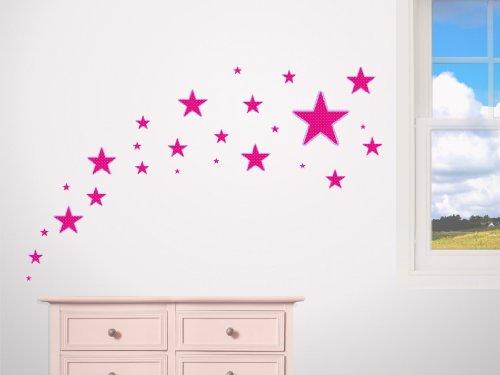Imagen 1 de Pegatina decorativa con 26 estrellas (1 de 20 cm, 5 de 10, 5 de 7, 5 de 5, 5 de 3, 5 de 2)-Dibujo F8-Variante 5