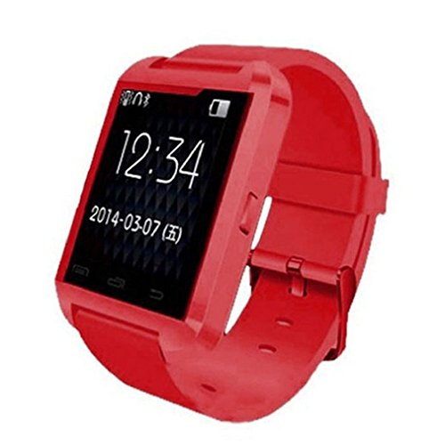 Towallmark(Tm)Bluetooth Wrist Smart Phone Watch For Ios Android Samsung Iphone Htc (Red)