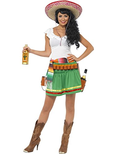 Smiffys Women's Green/White Tequila Shooter Girl Costume US Dress 10-12