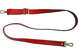 18mm Replacement Genuine Leather Purse Straps Adjustable Crossbody Shoulder Handbags Silvertone Buckles (130cm/51.2\