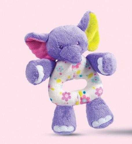 Douglas PlayTivity Elephant Plush Hand Rattle - 1