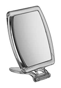 rectangle perspex travel mirror x 10 magnification 10cm beauty. Black Bedroom Furniture Sets. Home Design Ideas