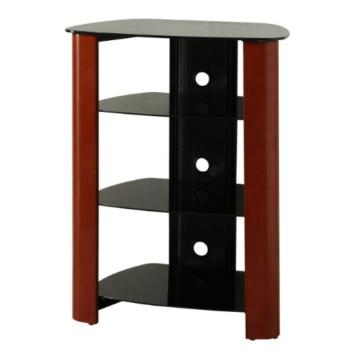 We Furniture Multi-Level Component Stand, Cherry/Black front-231746