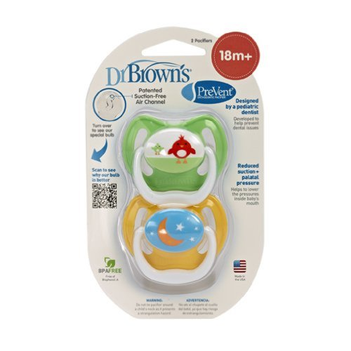 Dr. Brown'S 2 Pack Prevent Pacifier 18-24 Months (Green)