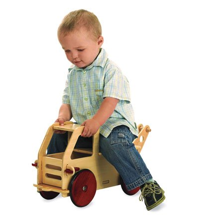 Moover Innovative Wooden Tow Truck Multi-Use Toy, in Natural
