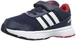 adidas NEO Cloudfoam VS City INF Shoe (Infant/Toddler),Collegiate Navy/White/Power Red,3 M US Infant
