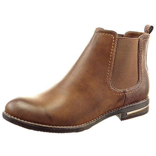sopily-damen-mode-schuhe-stiefeletten-chelsea-boots-schlangenhaut-metallisch-camel-frf-4-f132-t-37