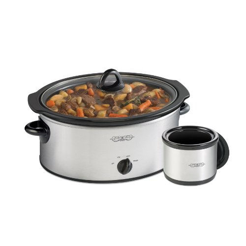 Bella Cucina 6-qt. Oval Slow Cooker with Bonus Dipper 13477