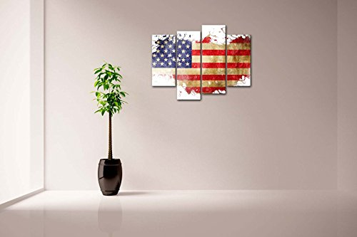 American flag in its country 39 s outline wall art painting Stars and stripes home decor
