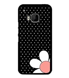 printtech Flower Dots Design Back Case Cover for HTC One M9::HTC M9