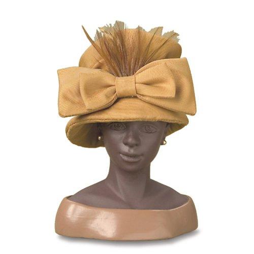 Gold satin hat