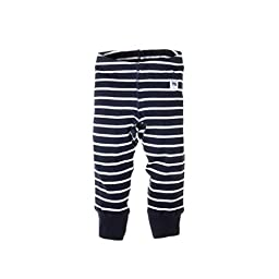 POLARN O. PYRET Classic Stripe Leggings Eco (Baby) 0-1 M - Navy/White Stripe