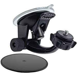 Arkon Windshield or Dashboard Camera Suction Mount for Sony Action Cam JVC ADIXXION and 1/4 20 Compatible Digital Cameras
