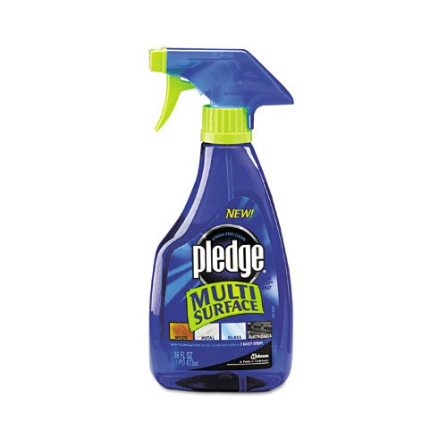 Pledge Products - Pledge - Multi-Surface Cleaner, 16 oz. Trigger Bottle - Sold As 1 Each - Effective on sealed wood, glass, stainless steel, sealed marble and granite, appliances, countertops and more. - Removes dust, dirt, smudges and fingerprints, and leaves a streak-free shine. -