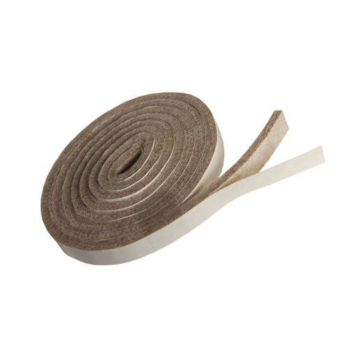 TAN Colored Heavy Duty Felt Stripping With Adhesive - 58