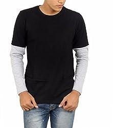 Younsters Choice Men's Cotton T-Shirt (YC-5810_Black Grey _X-Large)