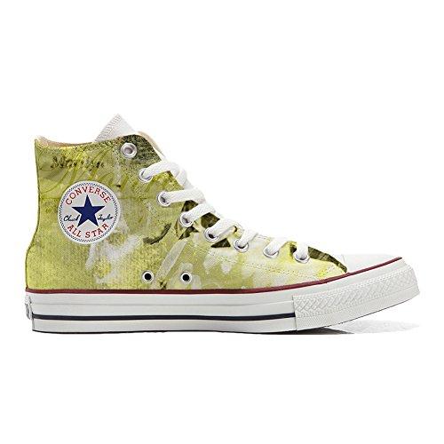 Converse All Star Hi Personnalisé et Imprimés chaussures coutume, Sneaker Unisex (produit Italien artisanal) Classic femme size EU38