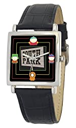 South Park Men's D1572S015 Manilla Collection Black Leather Watch