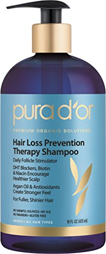 PURA D'OR Hair Loss Prevention Therapy Premium Organic Argan Oil Shampoo, 16 Fluid Ounce (Pur Dor Shampoo compare prices)