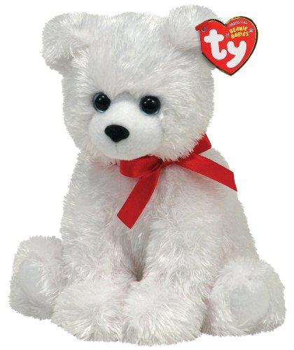 Ty Beanie Baby - ICE BOX - Polar Bear with Ribbon - 1