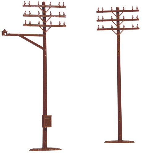 ATLAS MODEL 775 Telephone Poles HO (12)