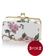 Classic Collection Floral Print Clasp Purse