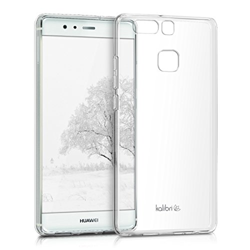 kalibri-Crystal-Case-Hlle-Sunny-fr-Huawei-P9-transparente-Kunststoff-Schutzhlle-mit-TPU-Silikon-Rahmen-in-Transparent