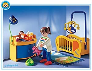 Playmobil baby 39 s room toys games for Playmobil chambre bebe
