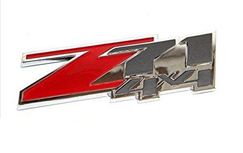 2pcs Red Color 3D z71 4x4 Chevrolet Silverado Emblem Badge ABS Logo Sticker For Chevy Silverado Sierra Plastic (Parts Chevrolet Z71 compare prices)