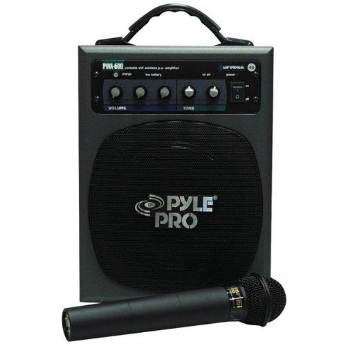 Pyle-Pro Pwma600 100-Watt Battery Powered Pa System With Wireless Mic