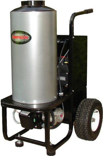 Simpson Mini-Brute MB1223 1,200 PSI 120 Volt Electric/Diesel Powered Hot Water Heavy Duty Pressure Washer