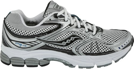 Saucony Men's ProGrid Stabil CS2 Running Shoe,White/Black/Silver,10 M US