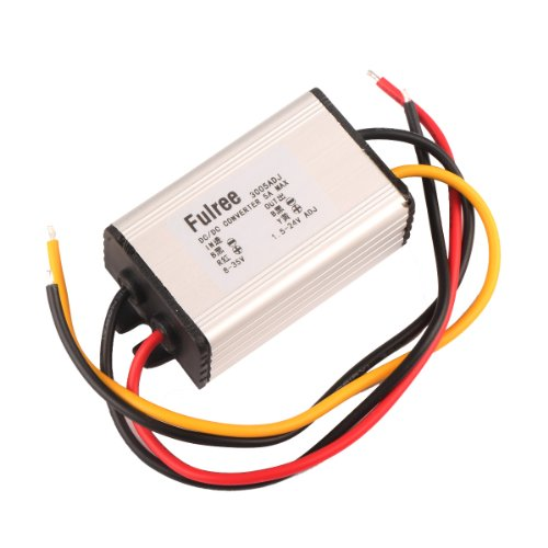 DROK 090198 DC Volt Converter Regulator 8-35V 24V/12V to 1.5-24V 5V 12 V 5A Adjustable Voltage Module (Voltage Regulator 5a compare prices)