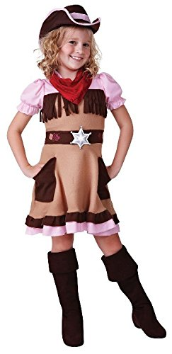 Cowgirl Cutie Wild West Girls Childs Fancy Dress Costume - M 134cms (Wild West Fancy Dress)