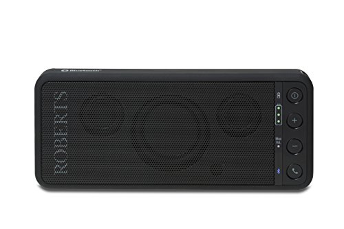 robertsradio TravelPad tragbarer Bluetooth Lautsprecher mit integriertem Akku schwarz