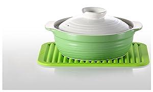 "9"" x 12"" Silicone Pot Holder, Trivet Mat, Baking Gadget Kitchen Table Mat, Silicone Drying Mat, Draining Board - Waterproof, Heat Insulation, Non-Slip, Trivet, Tableware Pad Coasters"