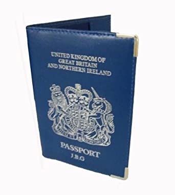PERSONALISED UK PASSPORT COVER DARK BLUE UPTO 6 LETTERS PRINTED FOR YOU