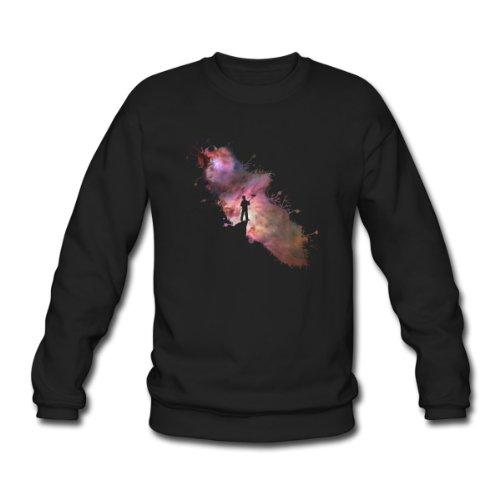 Spreadshirt, Sternenhimmel Maler Supernova Weltall Sterne 01, Men's Sweatshirt, black, XL