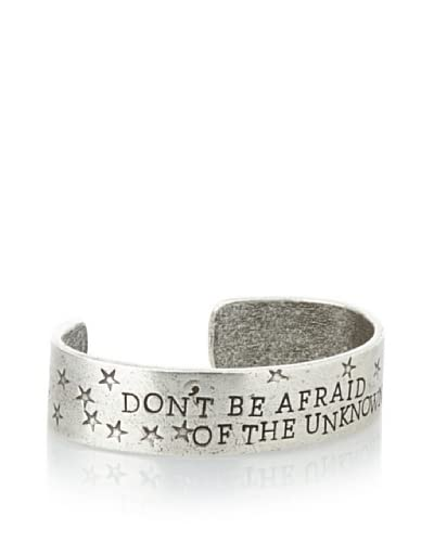 Alisa Michelle Silver-Tone Don'T Be Afraid Of The Unknown Cuff