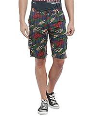 Vintage Premium Green Slim fit Shorts