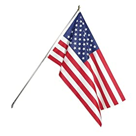 Heath Outdoor Kit with 6 Foot Tin Plated Pole including 3 -by-5 Feet Polyester Home Flag #25129