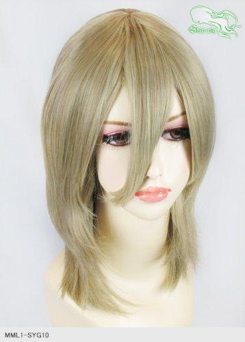 スキップウィッグ 魅せる シャープ 小顔に特化したコスプレアレンジウィッグ フェザーミディ アッシュゴールド
