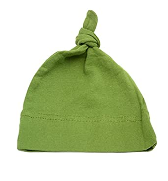 Mato & Hash 100% Cotton Adjustable Infant Baby Knot Hat Olive