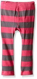 Trumpette Girls\' Cat Pink Stripe Leggings, Multi, 6-12 Medium
