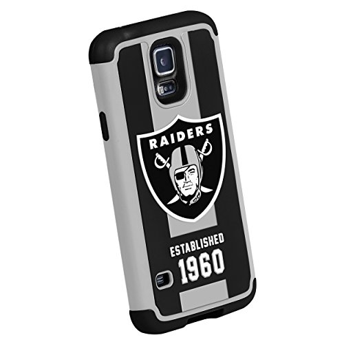 Forever Collectibles Nfl Oakland Raiders Dual Hybrid Tpu Galaxy S5 Rugged Case